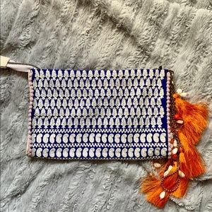 Fabric Anthropologie clutch